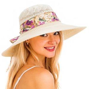 Sun Hat Straw Hat Floral Lace Beach Swimwear NEW